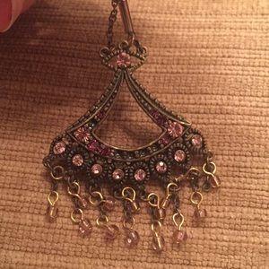 Jewelry - Amethyst Colored Chandelier Earrings